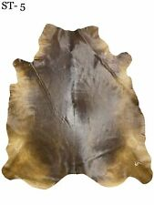 NEW LARGE 100% COWHIDE LEATHER RUGS COW HIDE SKIN CARPET AREA 26.2 QFT (st-5)