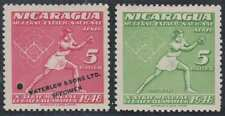 "NICARAGUA 1949 BASEBALL SOFTBALL Sc C308 REGULAR & PERF PROOF ""SPECIMEN"" MNH"