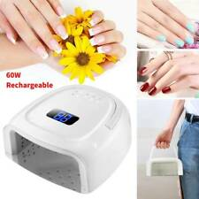 Wireless Led Uv Nail Dryer Gel Polish Lamp Curing Machine 60W 42Led Rechargeable
