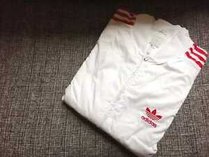 Rare used Adidas Originals Windbreaker Track Jacket superstar White/Red stripes