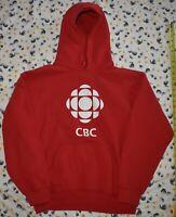 Vintage CBC Canada HOODIE Heavy Blend Cotton Classic WHITE LOGO Euc