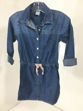 OSHKOSH B'GOSH LITTLE GIRLS DENIM LOOK DRESS BLUE SZ 6X NWT $36