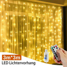 300 LED Curtain Fairy Lights USB String Hanging Wall Lights Wedding Party