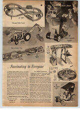 1961 PAPER AD Remote Control Toy Robot Commando Mechanical Man Ford Tractor