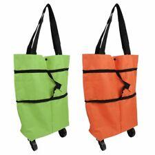 Portable Folding Food Basket Shopping Cart Cover Tug Trolley Case Storage Box