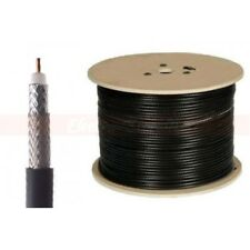 500ft RG6 Dual Shield Coaxial Cable Black Wire TV Antenna Satellite 18AWG Spool