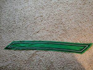 """Vntg Vera Neumann Silk Scarf~green, blue and white/58""""x6"""""""