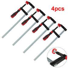 """4 Pcs/Set F Clamps Bar Clamp Heavy Duty 300mm x 50mm 12"""" Long Quick Slide Wood"""