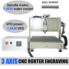 3 Axis CNC Router Engraver Milling Drilling Machine 6040 Fraiseuse Gravure 1.5KW