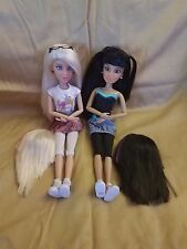 Spin Master Articulated Liv Dolls lot: Sophie, Katie, plus extra wigs