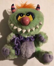 """VTG Kuddlee Uglee Monster 80s CHAIN Tara Toys 6"""" My Pet Monster style plush RARE"""