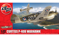 Airfix Model Kit Curtis P-40B Warhawk 1:72 Scale WWII Military War Aircraft 003B