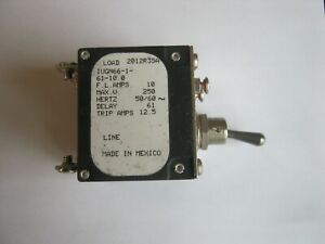 Airpax IUGN66-1-61-10.0 10A 10 Amps Hydraulic Circuit Breaker 2 Pole 250V