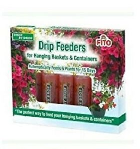6 Hanging Baskets Drip Feeders Fito Automatic Drop by Drop Plant Food Feed 32ml
