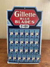 NOS Gillette safety razor blue blades store display