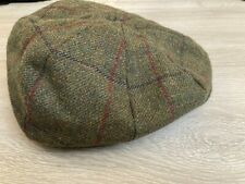 New Christys Mens Wool Flat Cap Hat, Olive Green, X-Large, RRP £75