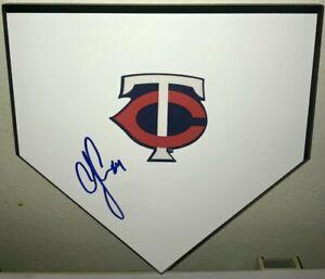 CJ CRON MINNESOTA TWINS STAR AUTHENTIC SIGNED AUTOGRAPHED MINI WOODEN HOME PLATE