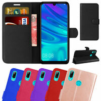 For Huawei P Smart 2019 Premium Leather Wallet Cover Flip Case Screen Protector