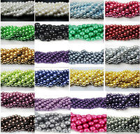 Hot Sale 100pcs Top Quality Charms Czech Glass Pearl Round Beads 4/6/8/10/12mm