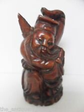 "Rosewood Chinese Monk carved statue, very good condition, 5 1/4"" tall[a7]"