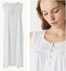 Ladies M*S  Nightie Spring Summer Cotton Broderie Long Plus Gown Nightdress New