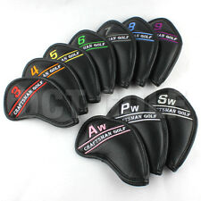 NEW 10X Colored Golf Iron Cover Headcover For Callaway Taylormade Titleist Black