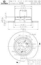 Brembo 25158 Disc Brake Rotor