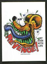 Revenge! STICKER Decal Ed Big Daddy Roth Rat Fink RF18A