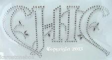 Hotfix Strass Bügelbilder  Schriftzug CHIC 130214