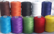 10 Strong  Sewing/Quilt Thread Spools, Heavy Duty Thread, 10 different Colours