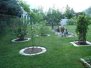 4 Large DIY Concrete Garden Edging Lawn Landscape Mold Set Wall Blocks Fast Ship