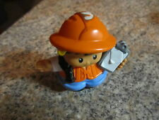 Fisher Price Little People construction worker village lady girl mom clipboard