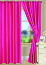 "2PC HOT PINK  SOLID 8 GROMMET WINDOW CURTAIN DROP Fully Stitched 108"" LENGTH"
