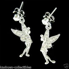 Tinkerbell w Swarovski Crystal Clear Pixie Tinker fairy ANGEL Girls Earrings New