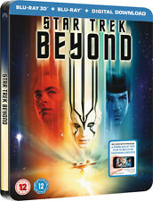 Star Trek Beyond - Zavvi Limited Edition Embossed Steelbook (Blu-ray 2D/3D) NEW