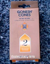 Gonesh Incense Cones #2 Perfumed With Oils & Spices 25 High Charcoal Cones NEW
