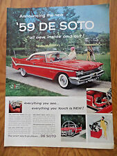 1959 DeSoto Sportsman Fireflite Ad New Sports Swivel Seats