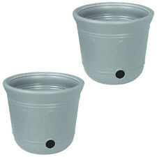 Suncast 300-Foot Heavy Duty 5-Gallon Decorative Garden Hose Pot, Gray (2 Pack)