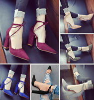 Women's Pointed Toe 11CM High Heels Office Lady Work Pumps Shoes Plus Size 42