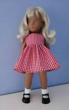 BJB Vintage Sasha doll clothes, Pretty red and white gingham check dress
