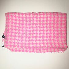Gap Houndstooth Scarf in Neon Malibu Pink