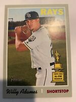 2019 Topps Heritage Base #211 Willy Adames - Tampa Bay Rays