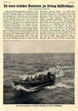 Die neuen Motorboote der Deutschen Gesellschaft zur Rettung Schiffbrüchiger 1913