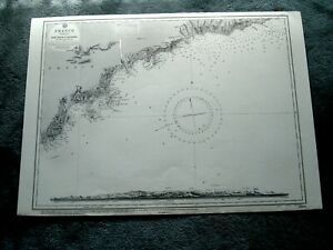 Vintage Admiralty Chart 2609 FRNACE - RADE D'AGAY to SAN REMO 1830 edn