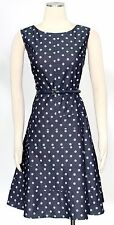 Tommy Hilfiger Indigo Multi Dress Size 14 Fit Flare Belted Women's New*