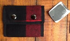 Urban Outfitters Spurling Lakes Red Buffalo Plaid Buttons Trifold Wallet NWT P-2