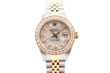 Rolex Ladies 18K/SS Datejust - Mother Of Pearl Diamond Dial & Diamond Bezel