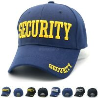 Baseball Cap Solid Color Security Visor One Size Adjustable Polo Style Strapback