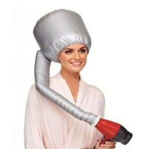 Portable Soft Hair Drying Cap  Attachment With Pouch Bonnet Hood Hat Blow Salon