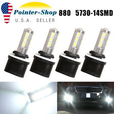 4x Xenon White 14 SMD 5730 880 892 893 899 High Power LED Bulbs Fog Light 12-24V